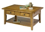 Treasures Rectangular Cocktail Table in Rustic Oak Finish by Liberty Furniture - 17-OT1001