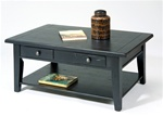 Treasures Rectangular Cocktail Table in Rustic Black Finish by Liberty Furniture - 17-OT4001