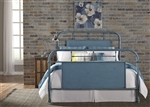 Vintage Metal Bed in Blue Finish by Liberty Furniture - 179-BR13HFR-BL