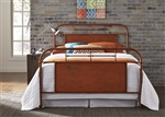Vintage Metal Bed in Orange Finish by Liberty Furniture - 179-BR13HFR-O
