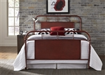 Vintage Metal Bed in Red Finish by Liberty Furniture - 179-BR13HFR-R