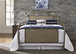 Vintage Metal Bed in Vintage White Finish by Liberty Furniture - 179-BR13HFR-W