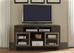 Avignon 60-Inch TV Console in Pewter and Rustic Brown Finish by Liberty Furniture - 197-TV60