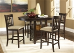 Santa Rosa Pub Table 3 Piece Dining Set in Merlot Finish by Liberty Furniture - 20-PUB4260