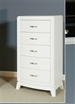 Avalon 5 Drawer Lingerie Chest in White Truffle Finish by Liberty Furniture - 205-BR46