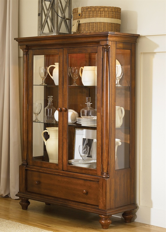Americana Display Cabinet In Chestnut Finish By Liberty Furniture    206 CH4466