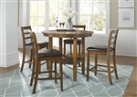 Tucson Counter Height Pub Table 5 Piece Dining Set in Oak Finish by Liberty Furniture - 22-CD-5PUB