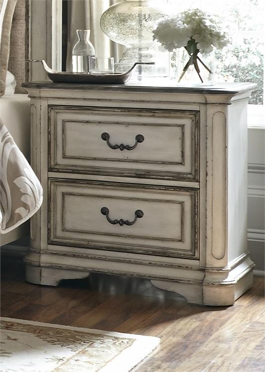 Magnolia Manor Upholstered Bed 6 Piece Bedroom Set In