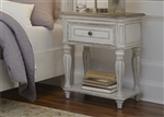 Magnolia Manor Leg Night Stand in Antique White Finish by Liberty Furniture - 244-BR63