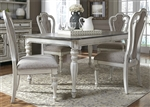 Magnolia Manor 44 x 90 Rectangular Table 5 Piece Dining Set in Antique White Finish by Liberty Furniture - 244-DR-5RLS
