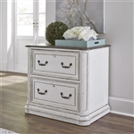 Magnolia Manor Jr Executive Media Lateral File in Antique White Finish by Liberty Furniture - 244-HO146