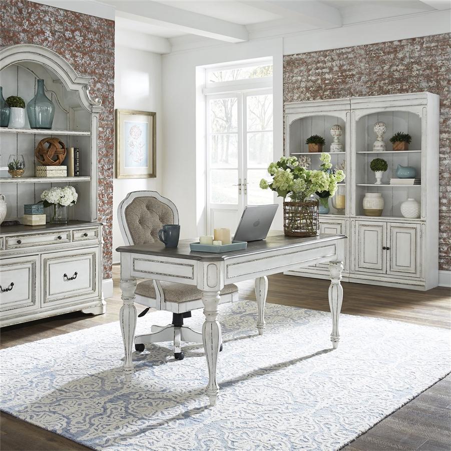 Magnolia Manor Bunching Bookcase In Antique White Finish