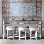Magnolia Manor 4 Piece Console Table Set in Antique White Finish by Liberty Furniture - 244-OT-4PCS