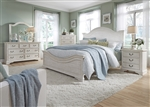 Bayside Arched Panel Bed 6 Piece Bedroom Set in Antique White Finish by Liberty Furniture - 249-BR