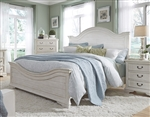 Bayside Arched Panel Bed in Antique White Finish by Liberty Furniture - 249-BR-QPB