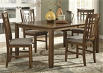 Santa Rosa Rectangular Leg Table 5 Piece Dining Set in Mission Oak Finish by Liberty Furniture - 25-CD-5RLS