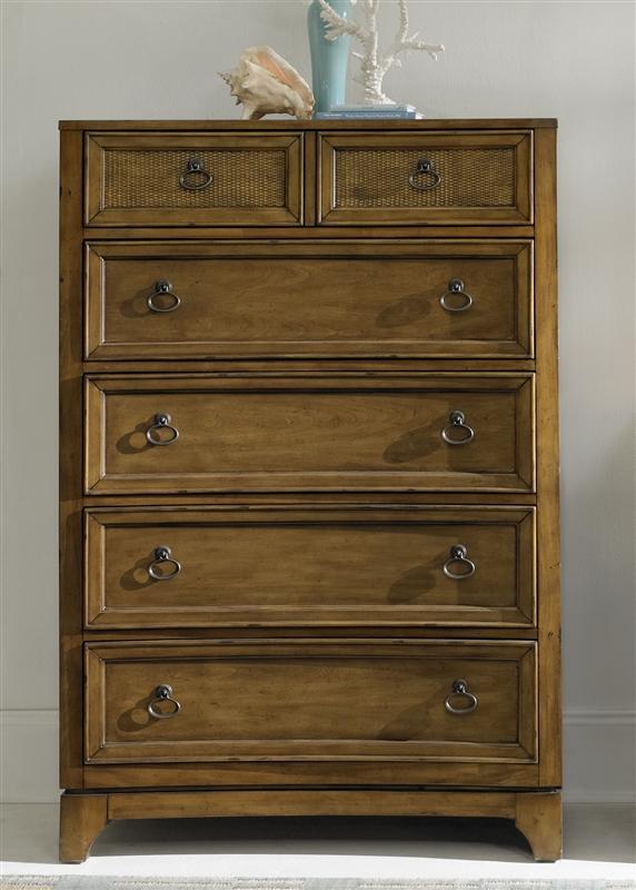 Miramar 6 Piece Bedroom Set In Blonde Finish By Liberty Furniture    LIB 252 BR
