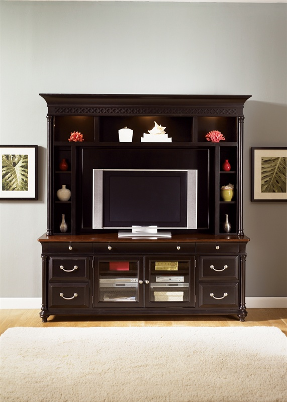 st ives 50 inch tv entertainment center in chocolate cherry finish by liberty furniture 260 ent. Black Bedroom Furniture Sets. Home Design Ideas