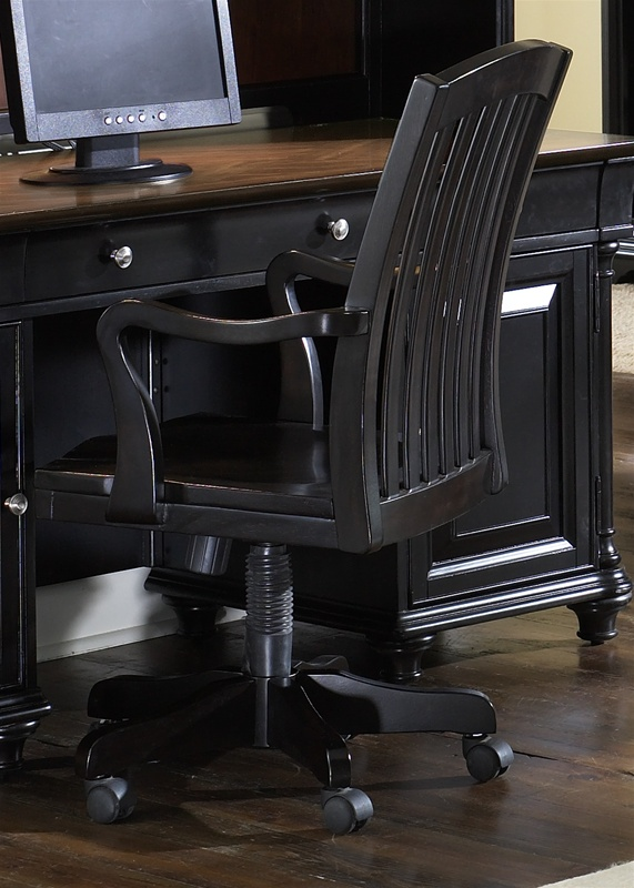 St Ives Jr Executive Desk In Two Tone Finish By Liberty