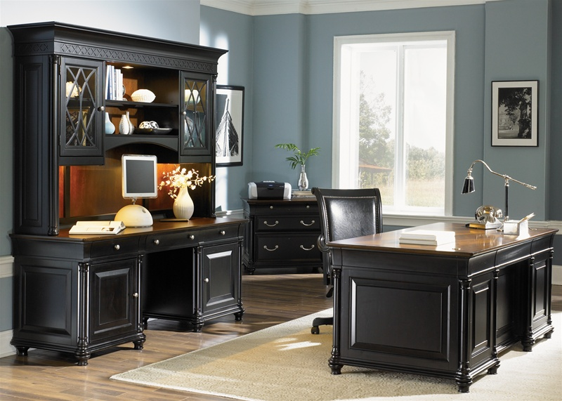 Warm Cherry Executive Desk Home Office Collection: St. Ives Executive Bookcase In Two Tone Finish By Liberty