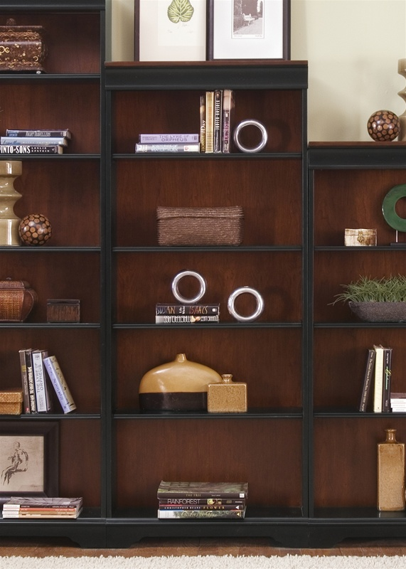 St Ives 72 Inch Jr Executive Bookcase In Two Tone Finish