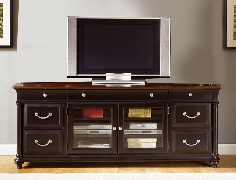 St Ives 76 Inch Tv Stand In Chocolate Amp Cherry Finish By