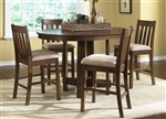 Urban Mission Pub Table 5 Piece Dining Set in Dark Mission Oak Finish by Liberty Furniture - 27-PUB4260