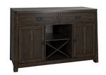 Urban Mission Server in Dark Mission Oak Finish by Liberty Furniture - 27-SR5236