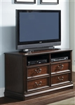 Brayton Manor Jr Executive Media Lateral File in Cognac Finish by Liberty Furniture - 273-HO146