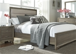 Hartly Upholstered Bed in Gray Wash Finish by Liberty Furniture - 283-BR-QUB