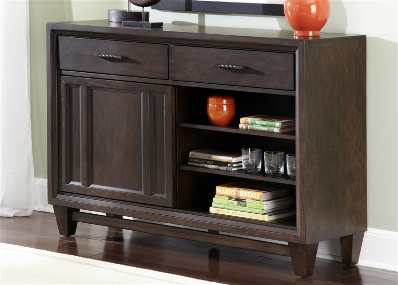 Visions Server In Waxed Dark Mocha Finish By Liberty
