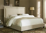 Nail Head Panel Bed in Natural Linen Fabric by Liberty Furniture - LIB-300-BR13HU