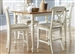 Ocean Isle 5 Piece X Back Chairs Counter Height Gathering Table Set in Bisque with Natural Pine Finish by Liberty Furniture - 303-B300124