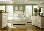 Ocean Isle Poster Bed 6 Piece Bedroom Set in Bisque with Natural Pine Finish by Liberty Furniture - 303-BR05