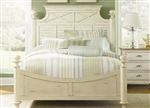 Ocean Isle Poster Bed in Bisque with Natural Pine Finish by Liberty Furniture - 303-BR06