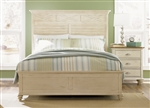 Ocean Isle Panel Bed in Bisque with Natural Pine Finish by Liberty Furniture - 303-BR14