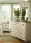 Ocean Isle Dresser in Bisque with Natural Pine Finish by Liberty Furniture - 303-BR32