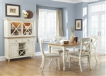 Ocean Isle 5 Piece X Back Side Chairs Dining Set in Bisque with Natural Pine Finish by Liberty Furniture - 303-C3001S