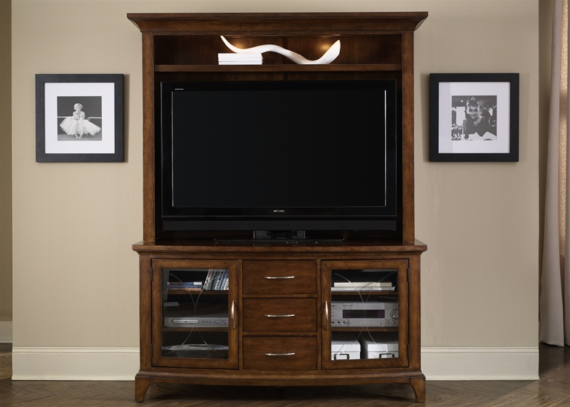 parkview 50 inch tv entertainment center in satin honey finish by liberty furniture 304 ent. Black Bedroom Furniture Sets. Home Design Ideas