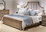 Palladian Place Panel Bed in Oyster Pearl Metallic Finish by Liberty Furniture - 307-BR-QPB