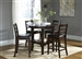 Bradshaw Counter Height Pub Table 5 Piece Dining Set in Russet Finish by Liberty Furniture - 32-CD-5PUB