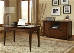 Leyton 2 Piece Home Office Set in Tobacco Finish by Liberty Furniture - LIB-326-HO