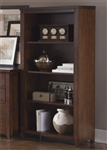 Leyton Open Bookcase in Tobacco Finish by Liberty Furniture - LIB-326-HO146