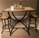 Monroe 5 Piece Pub Table Set in Rustic Brown Finish by Liberty Furniture - 327-CD-5PUB