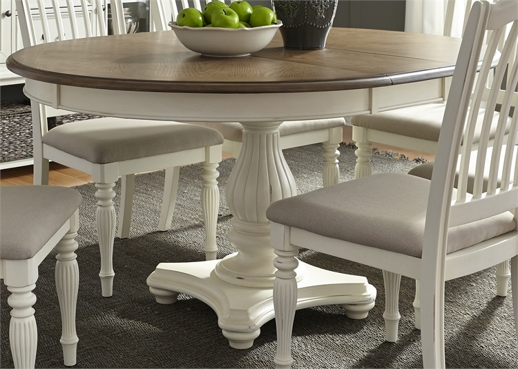 Cumberland Creek Pedestal Table 7 Piece Dining Set In Two