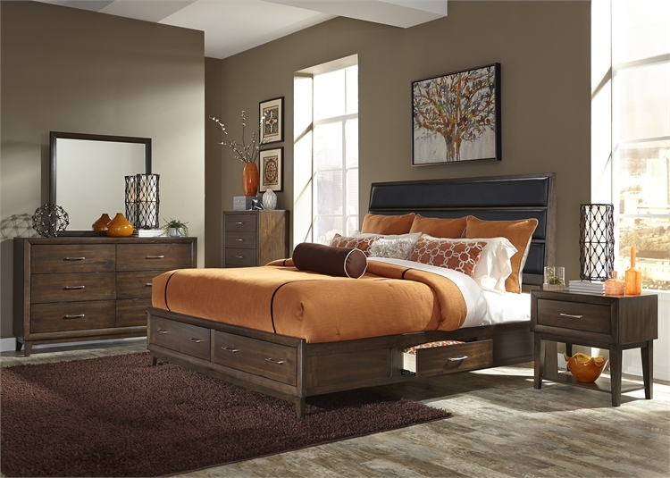 Hudson Square Storage Bed 6 Piece Bedroom Set In Espresso Finish By Liberty Furniture 365 Br