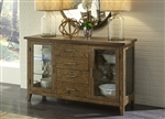 Pebble Creek Server in Weathered Butterscotch Finish by Liberty Furniture - 376-SR6036