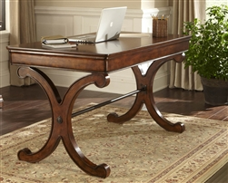 Brookview Writing Desk In Rustic Cherry Finish By Liberty