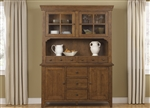 Hearthstone Buffet & Hutch in Rustic Oak Finish by Liberty Furniture - 382-CB6183H