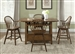 Hearthstone 5 Piece Center Island Set in Oak Finish by Liberty Furniture - 382-GT3660